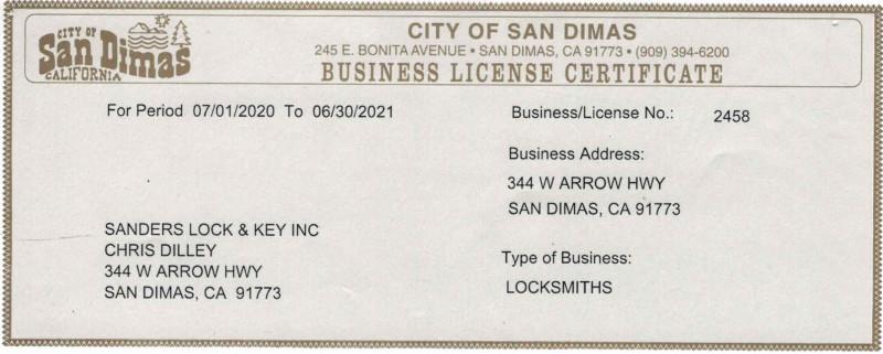 San Dimas Business License